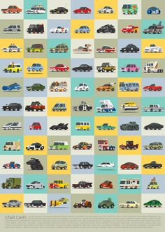 Star Cars Art Print - for one of the boys