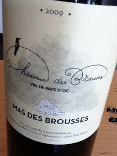 """Mas des Brousses, """"Chasseur des Brousses,"""" 2009 Vin de Pays d'Oc. Languedoc-Roussillon, France. $"""