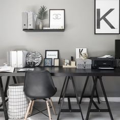 Home Office Wall Decor . Home Office Wall Decor . Modern Pink White and Black Home Office Workspace Decor White Office Furniture, Office Furniture Design, Office Interior Design, Office Interiors, Home Interior, Cheap Home Office, Home Office Colors, Home Office Space, Home Office Decor