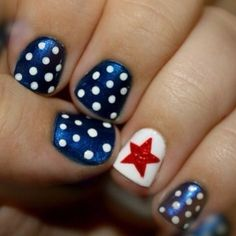Really want to do my nails like this for the forth of July