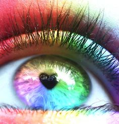 Creative Colorful Rainbow Photos are a great source of inspiration and you know what, colorful photos makes cool desktop. A rainbow is an optical and Rainbow Eyes, Love Rainbow, Taste The Rainbow, Rainbow Heart, Over The Rainbow, Rainbow Colors, Rainbow Light, Pretty Eyes, Cool Eyes