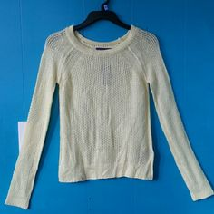"F21 Long Sleeves  Sweater Top- Light Yellow Spring Ready or for a pop of color ;) Measurements - pit to pit- 15.5; sleeves- (from highest point of neck) 28""; length from highest point if neck- 23"" Forever 21 Sweaters"