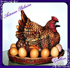 Detalles hechos con amor Biscuit, Crochet Flowers, Decoration, Rooster, Decoupage, Barbie, Eggs, Animals, Food