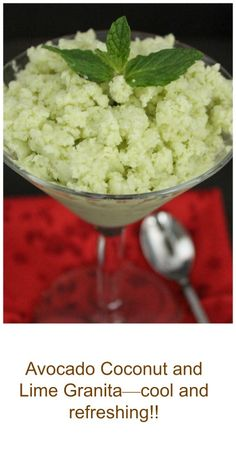 Avocado Coconut and Lime Granita