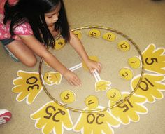 Then it was time to make a giant clock together. We used hula hoops for the face of the clock and cut out numbers and hands. We arranged all the pieces and practiced telling time to the hour as a group. Math Classroom, Kindergarten Math, Classroom Activities, Classroom Ideas, Time Activities, Preschool, Educational Activities, Teaching Time, Student Teaching