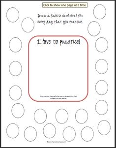 Practicing Challenges free printables for practicing - The Practice Shoppe