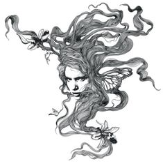gabriel moreno illustration hair