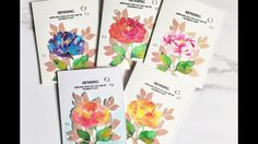 Mass Produced Watercolored Dearest Peony Watercolor Cards, Watercolour, The Ton Stamps, Birthday Cards, Happy Birthday, Altenew Cards, Rubber Stamping, Peony, Handmade Cards