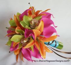 Lucy's Bouquet - 04/06/2012    WilliamLoomis-BridalBouquet-SIDE-c      	  Inspiration Board  Pink and Orange    I just love Bright colors Hot Pink, Orange, Blue, Lime Green