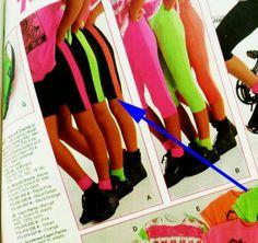 Florescent striped shorts! #80s #1980s #childofthe80s