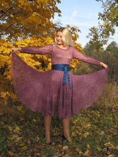 Платье из мохера с шелком от Татьяны