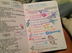 This is a fun, creative list of movies that the blogger Lala I'm Singing made in her bullet journal.
