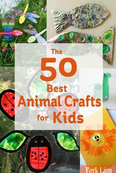 Looking for something to keep the kids preoccupied? Whether it be for 15 or 50 minutes you'll be sure to find something in this round up of the best animal crafts for kids.