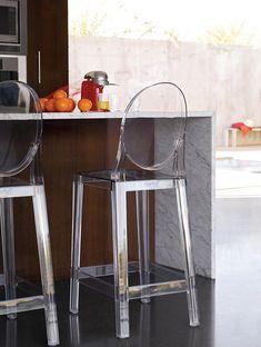 ...cool acrylic stools!