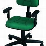 Cadeira Back System Secretaria Costurada Escritorio Ergonomica