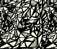 Monarch_Sketch_BLK fabric by silverkaos on Spoonflower - custom fabric