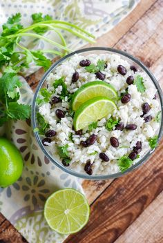 Jasmine Rice with Fresh Lime, Black Beans & Cilantro