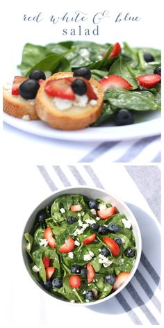 Red, white and blue berry salad | Memorial Day entertaining