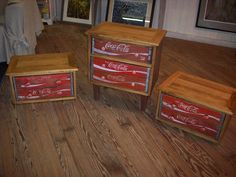 furniture made from old coke cola cases