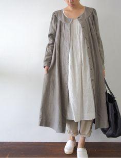Linen in the Winter - Jacket / Dress  [Envelope Online Shop] Michaela Lisette dress: