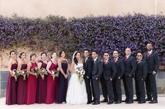 Bride and Groom Bridal Party | bay-area-wedding-photographer-canyon-view