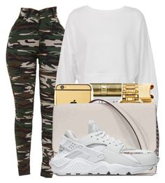 """Untitled #334"" by lowkeysavage11 on Polyvore featuring Sans Souci, Michael Kors and NIKE"