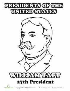 William Taft Coloring Page