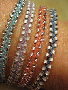 Braided, Beaded Bracelets HOW EASY TO MAKE FOR A KIDS CRAFT