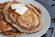 Apple Butter Swirled Pancake - make these Gluten Free by using Gluten Free Bisquick!