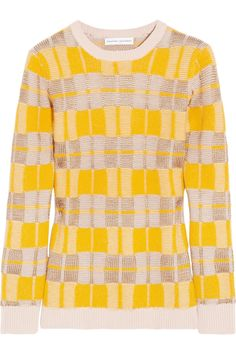 Jonathan Saunders Checked knitted sweater
