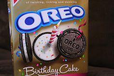 oréos à saveur de gâteau d'anniversaire..