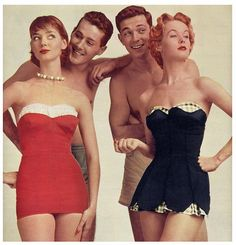 Rockabilly Bathing Suits 1950s | Via Talulah Blue