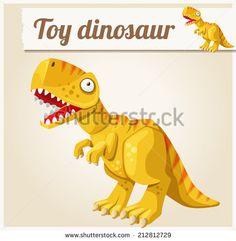 Toy dinosaur Cartoon vector illustration. Series of children's toys