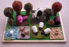 Hand Knitted Toy Farm by itsbagsoffun on Etsy, $100.00