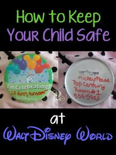 Great tip on how to keep your child safe at Walt Disney World! This is so brilliant.