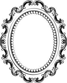 Photos cadre baroque ovale dessin