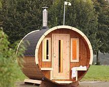 Fancy Saunatonnen f r G rten mit wenig Platz Eine Sauna f r den Garten Pinterest Saunas Sauna ideas and Lofts