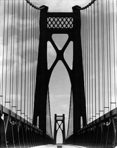 Ralph Steiner Mid Hudson Bridge, Gelatin silver print 9 x 7 Gift of Therese and Murray Weiss Photography Essentials, City Photography, Otto Steinert, Black And White City, Famous Photographers, Photo Black, Black And White Photography, Cool Pictures, Image