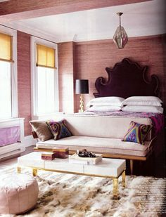 pretty bedroom.  love the seating area