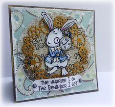 The Hurrier I Go - Visible Image stamps Alice Madness, Image Stamp, Card Making Inspiration, Pretty Cards, Wizard Of Oz, Paper Craft, Alice In Wonderland, Cardmaking, Card Ideas