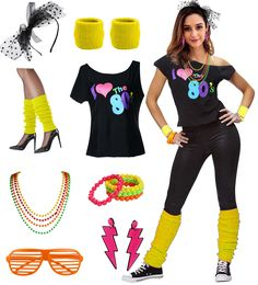 Party Outfit Ideas Collection party costume set for ladies with t shirt and Party Outfit Ideas. Here is Party Outfit Ideas Collection for you. Party Outfit Ideas dance outfits in 2019 party outfits cost. 80s Theme Outfit, 80s Theme Party Outfits, 80s Party Costumes, 80s Halloween Costumes, 80s Party Dress, Themed Outfits, Eighties Costume, Eighties Party, Helloween Party