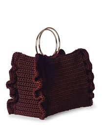 e69f1b4f36 ONE   ONLY Burgundy Passion Handle Ring Tote   ΤΣΑΝΤΕΣ TOTE