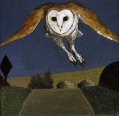 The Owl, 2004 by David Inshaw on Curiator, the world's biggest collaborative art collection. Owl Art, Bird Art, Tate Gallery, Digital Museum, Country Scenes, Collaborative Art, Art Archive, Funny Animal Pictures, Cool Drawings