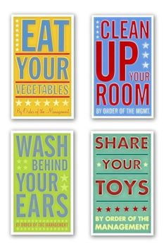 rules to live by for d's room