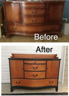 beautiful buffet befor and after, painted furniture Diy Furniture Renovation, Refurbished Furniture, Repurposed Furniture, Furniture Projects, Furniture Making, Furniture Makeover, Painted Furniture, Upcycled Furniture Before And After, Antique Furniture