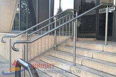 Stainless Steel Rod Balustrade:-Stainless steel double flat bar posts with pin & OD top rail with OD horizontal rod infills. Stainless Steel Balustrade, Stainless Steel Rod, Houses Of Parliament, Metal Working, Sydney, Stairs, Design, Stairway, Metalworking