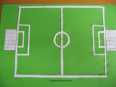 Voetbal platte vlak knutselen » Juf Sanne