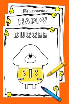 Coloring pages, connect the dots, and other activities for kids featuring Duggee and friends Third Birthday Girl, Harry Birthday, 2nd Birthday Parties, Birthday Ideas, Twins 1st Birthdays, Puppy Party, Happy Birthday Banners, Party Time, Dots