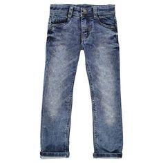 Pantalon en molleton effet jeans used   Main