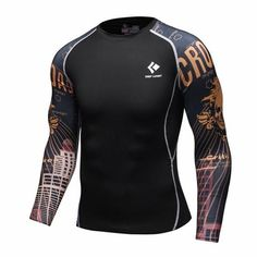 833247ea9fa Mens Compression Long sleeve Breathable Quick Dry T Shirts Bodybuilding  Weight lifting Base Layer Fitness Tight Tops T-shirt